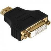 Переходник HDMI (male) - DVI (female) черный, 24pin