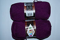 Пряжа для ручного вязания полушерсть цвет фуксия Lanagold fine ализе доставка Херсона