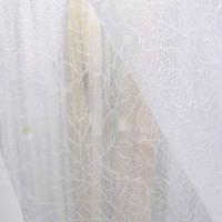 Тюлевой кристалон белый с текстурой