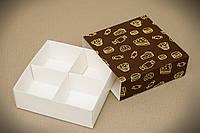 Універсальна коробка-пенал з ложементом 160*160*55 колір СОЛОДКЕ темний фон