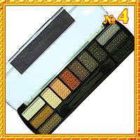 Тени для век MS-2012 Двенадцатицветные Сатиновые Компактные тон 04