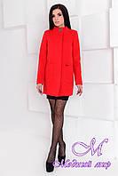 Утонченное женское осеннее пальто красного цвета (р. S, M, L) арт. Мирта 77 - 9237