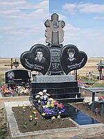 Двойной гранитный памятник №5