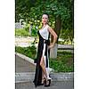 Платье длинное черно белое