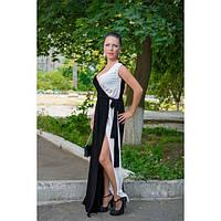 Платье длинное черно белое, фото 1