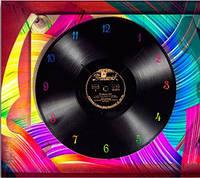 """Картина-часы (40х45 см) """"Виниловая пластинка"""""""