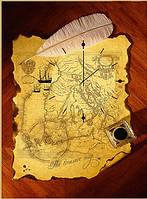 "Картина-часы (50х70 см) ""Карта"""