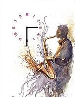 "Картина-часы (30х40 см) ""Саксофонист"""