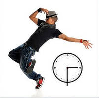 "Картина-часы (45х45 см) ""Танцор"""