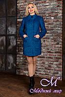 Демисезонное женское пальто цвета электрик (р.S, M, L) арт.Мирта 77 крупное букле лайт 9158