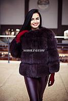 Полушубок из меха финского песца, широкая раскладка меха, размеры в наличии. Продажа оптом. Украина