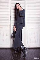 Платье  женское, графитовое , мультисезон P-LETUAL 1-5