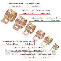 Хомут-зажим для трубочек и шлангов. Внутренний Ø 6 мм, фото 3