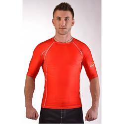 Мужской Рашгард красный с коротким рукавом MMA LEGACY red