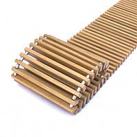 Решетка деревянная дубовая для конвектора шириной 160мм КV.160