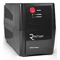 ИБП Ritar & Yuasa RTP500 (300W) Standby-L, LED, AVR, 4st, 2xSCHUKO socket, 1x12V4.5Ah Yuasa, plastik Case. Q4