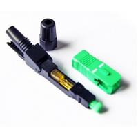 Коннектор SC/APC-D быстрого монтажа, для плоского кабеля на защелке, цена за 1 шт, Q100