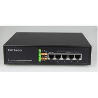 Коммутатор POE 48V 4 порта PoE + 1 порт Gigabit Ethernet (UP-Link), корпус -металл, Black, встроенный БП