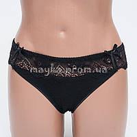 Женские трусы хлопок с кружевом черные р.46  L9135-461 Большой выбор нижнего белья!
