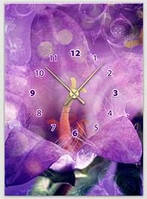 "Картина-часы (50х70 см) ""Орхидея"""