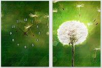"Модульная картина-часы (100х70 см) ""Одуванчик"""