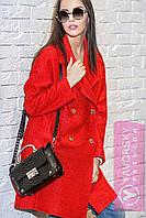 """Пальто женское модное демисезонное двубортное полушерсть разные цвета """"Тонни"""" GY86"""