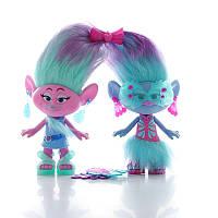 Игрушечный набор тролли модные близнецы Trolls Satin and Chenille´s Style