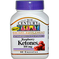 21st Century, Кетоны малины, 100 мг, 90 капсул