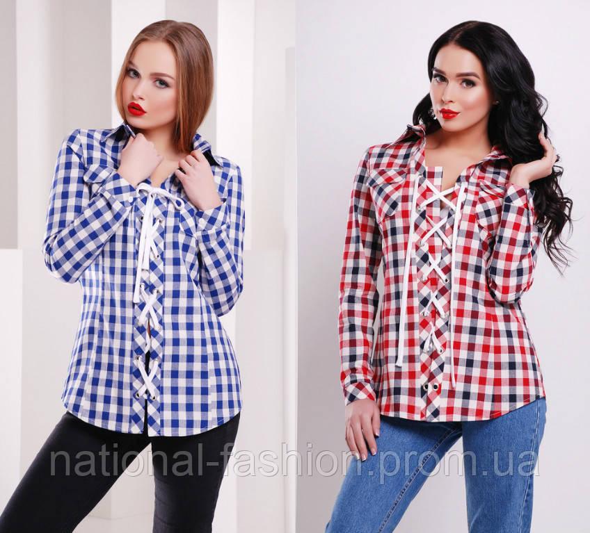 f926598daf4 Клетчатая женская рубашка на фланели