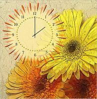"""Картина-часы (60х60 см) """"Герберы"""""""