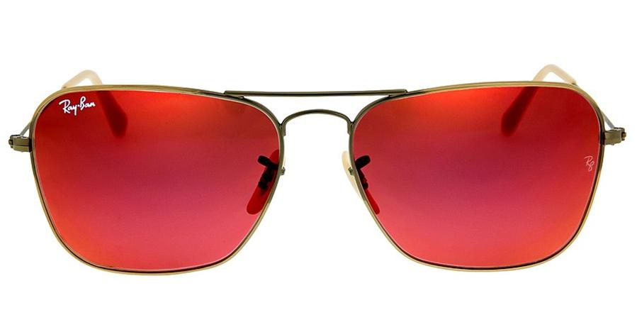 Солнцезащитные очки Ray-Ban Caravan Red Mirror RB3136 167/2K 58