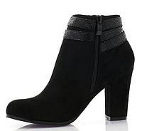 Женские ботинки на устойчивом каблуке весна,осень