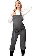 Комбинезон для беременных серый (шерсть) на подкладке