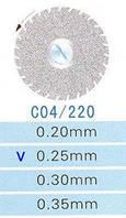 C04/220/0.25 диски алм.двухст.