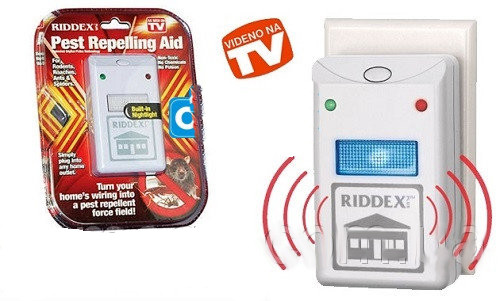 Электронный отпугиватель Riddex Plus Pest Repelling Aid: охват 200 м², 4 Вт, 3 вида излучения - Сто грамм в Киеве