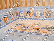 """Детское постельное белье в кроватку """"Бим Бом"""" комплект 5 ед. (сова голубой), фото 2"""