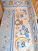 """Детское постельное белье в кроватку """"Карапуз"""" комплект 7 ед. (сова голубой), фото 4"""