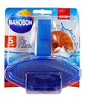 Подвесной блок для унитаза Sanobon 5 в 1 Blue Peach (Персик) - 55 г.