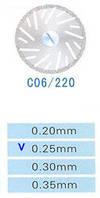 C06/220/0.25 диски алм.двухст.