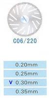 C06/220/0.30 диски алм.двухст.