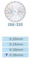 C06/220/0.35 диски алм.двухст.
