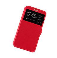 Чехол книжка для Lenovo A7000 K3 Note Modern Style с окном красный