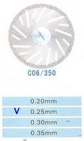 C06/350/0.25 диски алм.двухст.