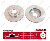 Тормозной диск передний Mercedes Vito 639 03- ABE C3M015ABE