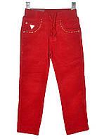 Брюки вельветовые для девочки 4-7 лет Merkiato красные