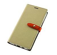 Чехол книжка для Xiaomi Redmi Note 3 / Note 3 Pro Goospery бежевый