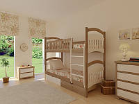 Кровать Жасмин двухъярусная 90 (Мебигранд/Mebigrand) 970х1980(2080)х1780мм , фото 1