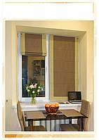 Римские шторы модель Призма ткань  Лен