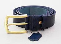 Синий кожаный ремень с узором TIA женский, фото 1