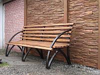 Скамейка парковая из массива дерева
